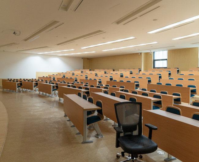 University of Seoul, South Korea empty classroom in University of Seou